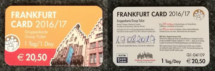 フランクフルトカード 裏面日付