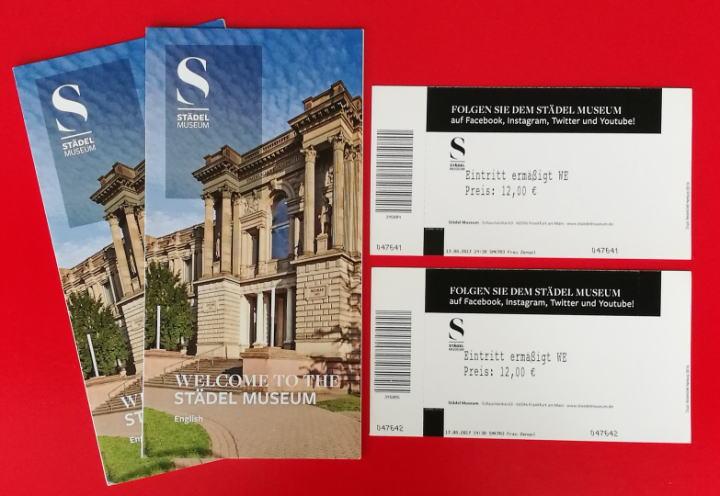 シュテーデル美術館 パンフレット チケット