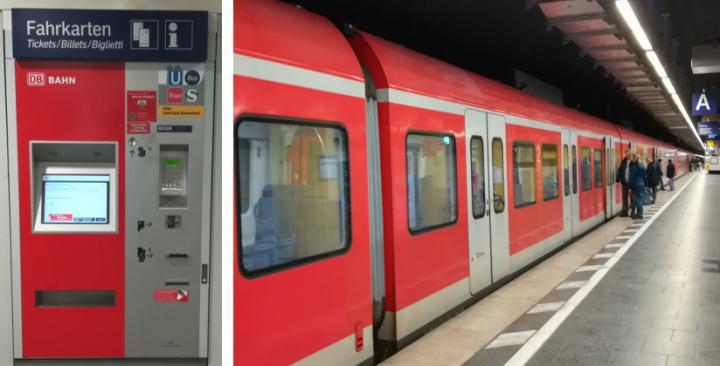 ドイツ Sバーン 自動券売機 車両