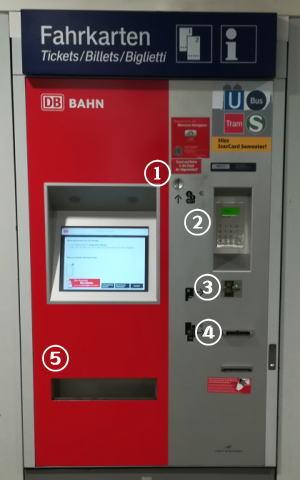 ミュンヘン 自動券売機