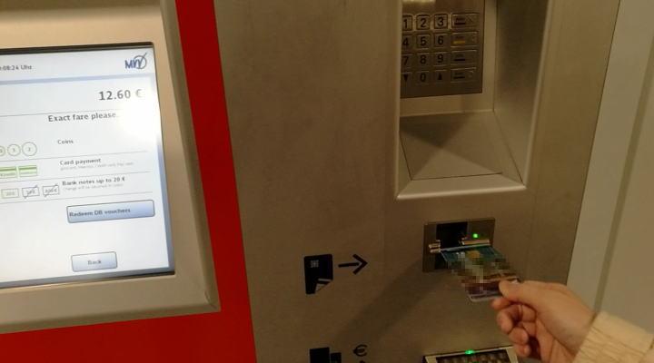 ミュンヘン 自動券売機 クレジットカード支払