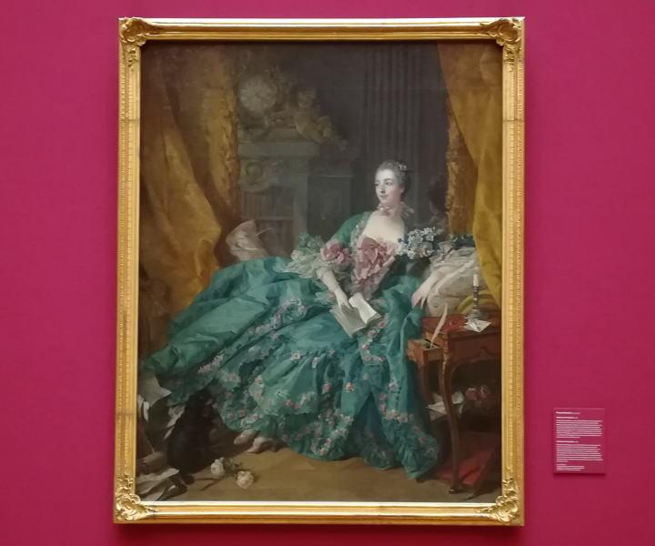 ポンパドゥール夫人の肖像 フランソワ・ブーシェ