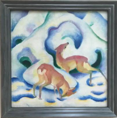 雪の中の鹿 フランツ・マルク