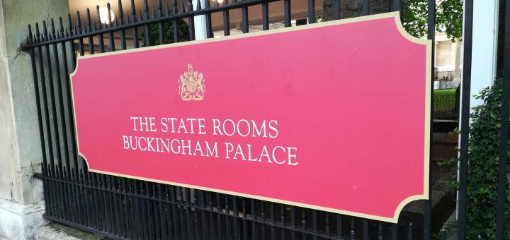 バッキンガム宮殿 ステートルーム入口