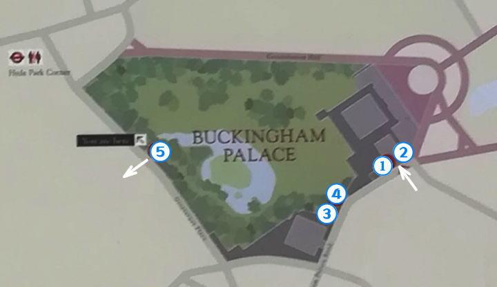 バッキンガム宮殿 地図