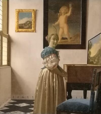 フェルメール「ヴァージナルの前に立つ女」