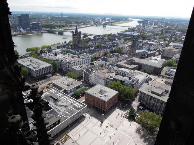 ケルン大聖堂 南塔からの眺め