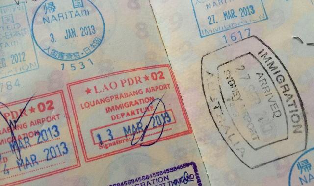 パスポート スタンプ