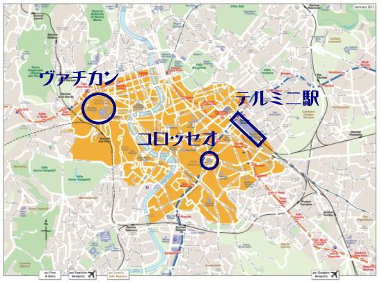 アウレリアヌス城壁地図