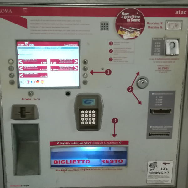 ローマ地下鉄メトロ 自動券売機