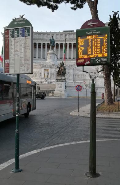 ローマ バス停 停留所