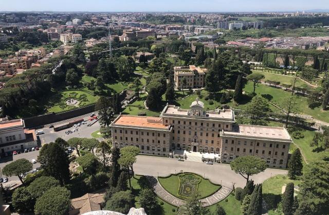 クーポラからの眺め ヴァチカン政庁舎