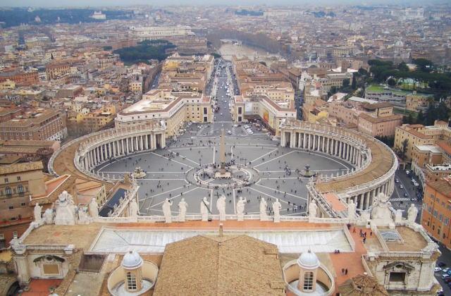 サン・ピエトロ大聖堂 クーポラからの眺め