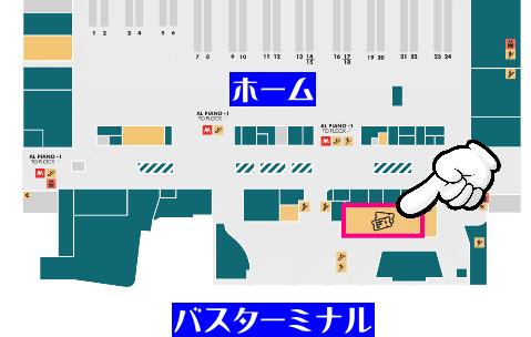 テルミニ駅構内 切符売り場