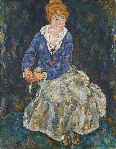 エゴン・シーレ エディス・シーレの肖像
