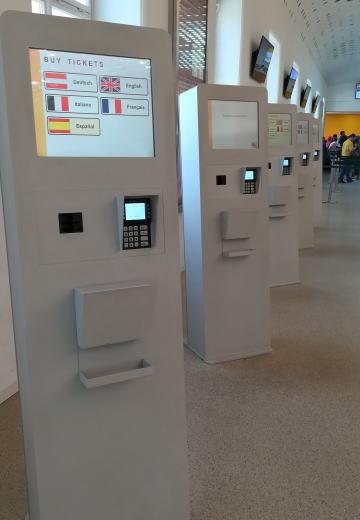 シェーンブルン宮殿 自動券売機