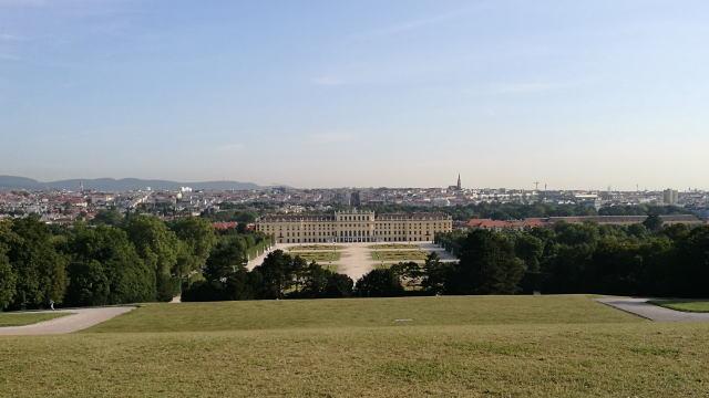 グロリエッテからウィーン市内一望