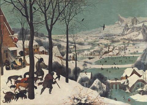 ピーテル・ブリューゲル 雪中の狩人