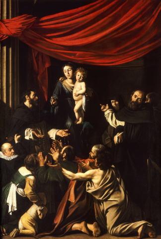 カラヴァッジョ ロザリオの聖母子