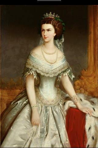 ヨーゼフ・ホラチェク  薄い青のドレスの皇妃エリザベト