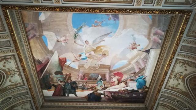 ウィーン美術史美術館 天井フレスコ画