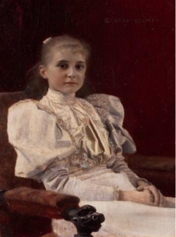 グスタフ・クリムト「座る少女」