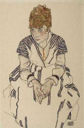 エゴン・シーレ「アデーレ・ハルムスの肖像」