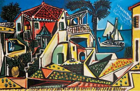 パブロ・ピカソ「地中海の風景」