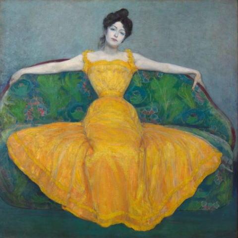 マクシミリアン・クルツヴァイル「黄色いドレスの女性」